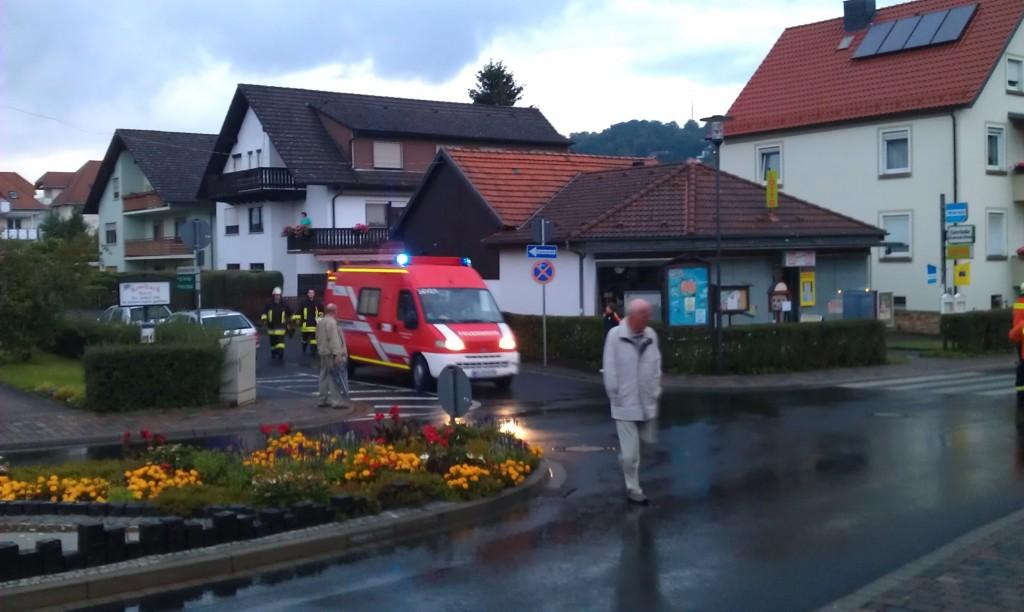 Anrücken des Messwagens der Feuerwehr Wächtersbach