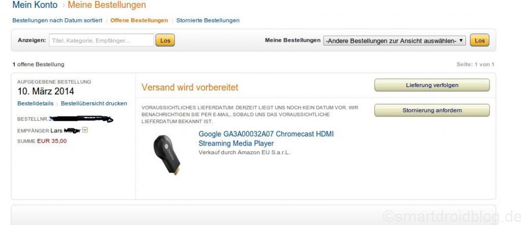 Chromecast_bestellung
